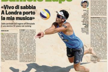 Daniele Lupo a tutta pagina sulla Gazzetta dello Sport