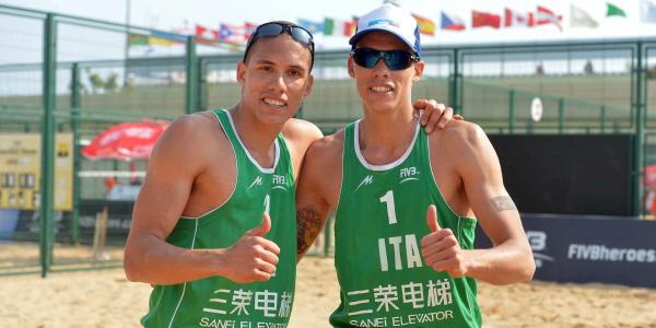 I gemelli Ingrosso accedono ai sedicesimi di finale di Shangai (foto fivb.org)