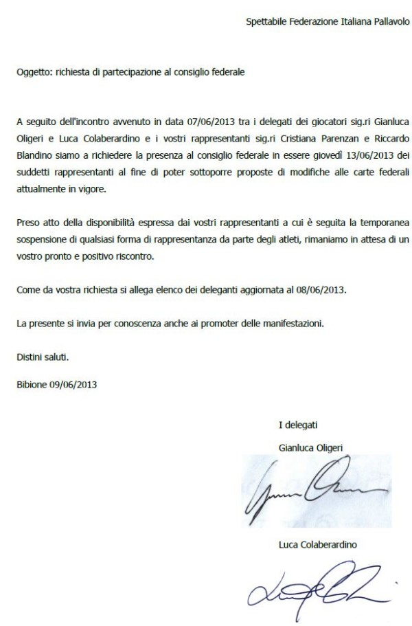 letteraconsigliofederale