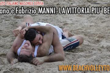 Campionato Italiano M Cervia: Arriva la vittoria più bella per i fratelli Manni. Superati al tiebreak Lupo-Vanni