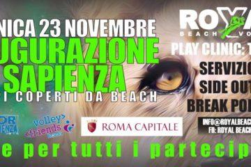 Domenica 23 novembre la Royal Beach Volley inaugura la nuova sede di Tor Sapienza