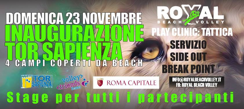 royal beach volley tor sapienza