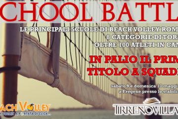 School Battle: A Fregene il 9 e 10 Maggio il primo torneo delle scuole di beach volley romane