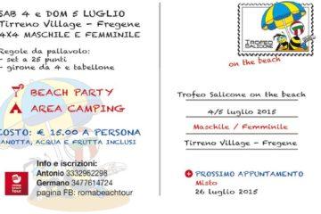 """Countdown attivo per il """"TROFEO SALICONE…on the beach"""". Si gioca il 4 e 5 luglio al Tirreno Village di Fregene"""