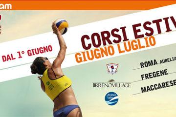 RomaBeachTeam: Dal 1° giugno corsi di beach volley a Fregene, Maccarese e Cesano