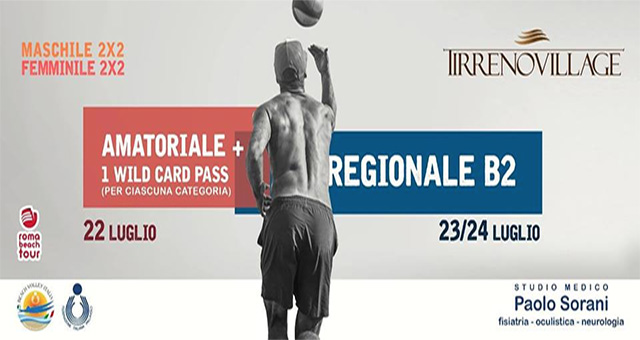 torneo serie beach 2 tirreno village fregene roma beach tour