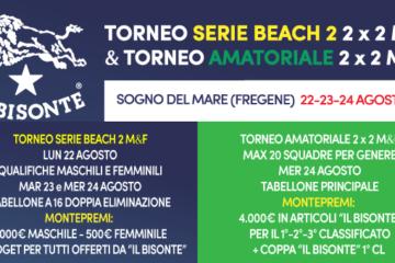 """Ultimi giorni per iscriversi ai tornei """"Il Bisonte"""" (Serie B2 + Open) di Fregene"""