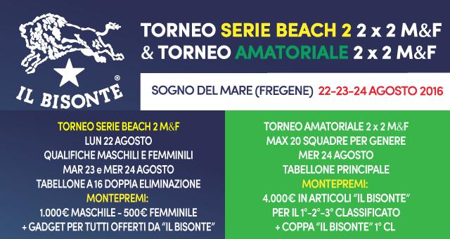 torneo il bisonte serie beach 2 amatoriale