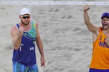 Olimpiadi Rio 2016: Alison/Bruno superano al tiebreak Lucena/Dalhausser. Derby olandese a Brouwer/Meeuwsen
