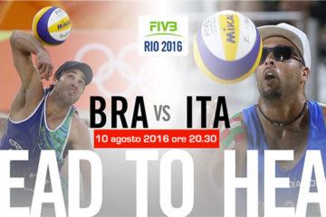 Olimpiadi Rio 2016: Ranghieri/Carambula alle 20.30 contro i Campioni del Mondo Alison/Bruno