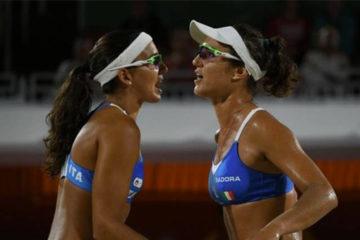 Olimpiadi Rio 2016: Tutto facile per Menegatti/Giombini. 2 a 0 sulle egiziane Elghobashy/Nada