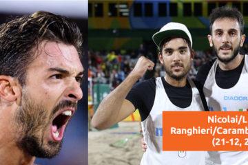 Olimpiadi Rio 2016: Il Derby va a Nicolai/Lupo. Superati 2 a 0 Ranghieri/Carambula