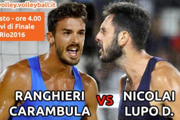 Olimpiadi Rio 2016: Alle 4 di domani mattina il Derby d'Italia