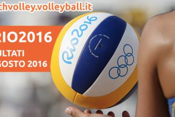Beach Volley Rio 2016: I risultati del 6 agosto 2016