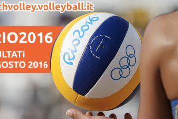 Beach Volley Rio 2016: I risultati dell'8 agosto 2016
