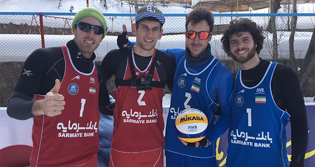 carlon de monti dizin snow volleyball 2017