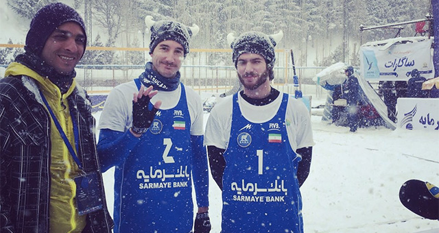 carlon de monti snow volley iran