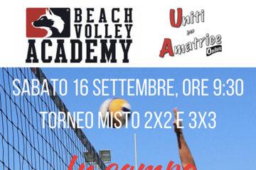 """Beach Volley e solidarietà: il 16 settembre """"In campo per Amatrice"""" con la Beach Volley Academy"""