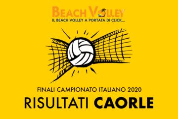 Campionato Italiano 2020: Nessuna sorpresa a Caorle. Domani si assegnano gli scudetti